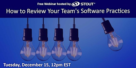 How to Review Your Team's Software Practices (Free Webinar) tickets