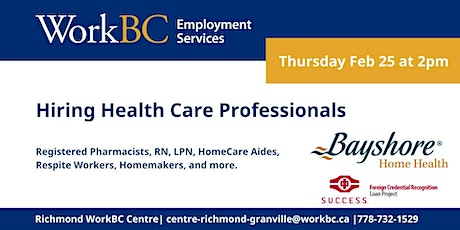 Hiring for Healthcare Professionals tickets