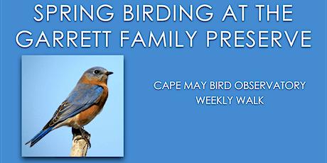 Spring Birding at Garrett Family Preserve tickets
