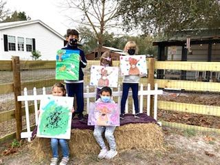 """""""Painting w/baby Goats"""" image"""