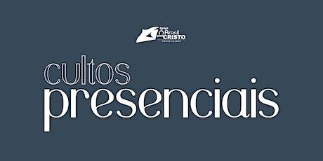 CULTOS PRESENCIAIS DOMINGO 31/01 ingressos