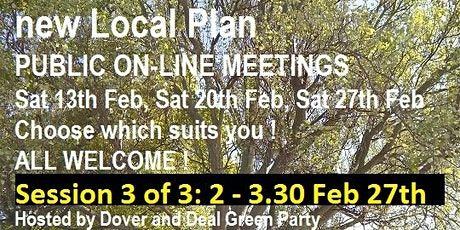 Let's Talk: about Dover's new Local Plan -  Session 3 of 3 tickets