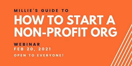 WEBINAR | Millie's Guide to How to Start a Non-Profit Organization tickets