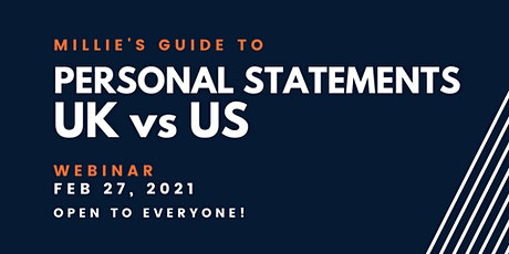 WEBINAR | Millie's Guide to Personal Statements UK vs US tickets
