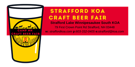 Strafford KOA Craft Beer Fair- Vendor Registration tickets