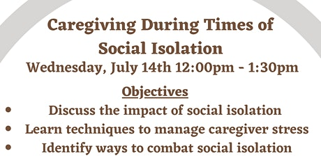Caregiving During Social Isolation tickets