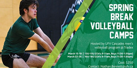 UFV Spring Break Volleyball Camp 13-15U Boys tickets