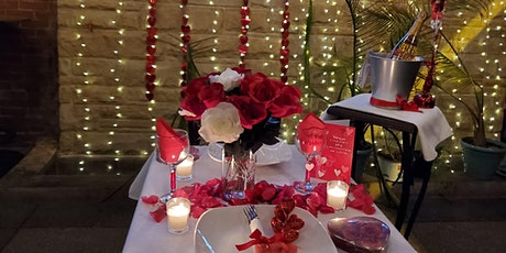 Valentine's Day decorated Patio Diner for two tickets