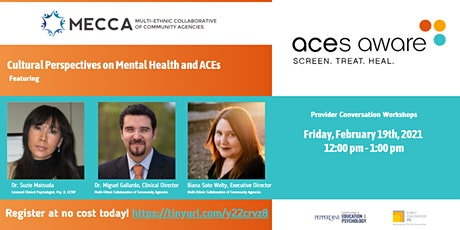 Cultural Perspectives on Mental Health and ACEs tickets