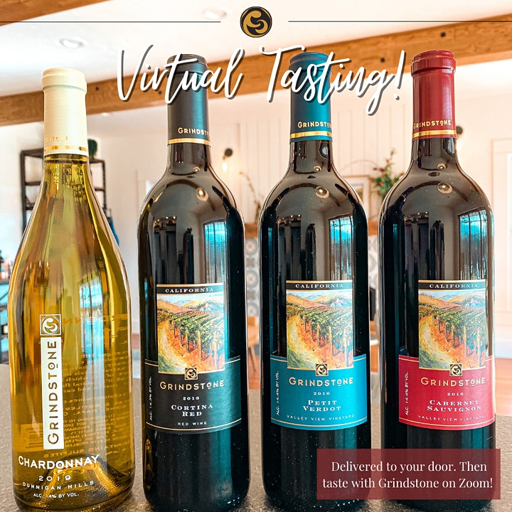 Virtual Wine Tasting Event with Grindstone Winery image