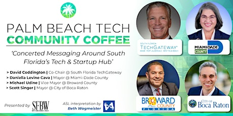Community Coffee☕| 'Messaging Around South Florida's Tech & Startup Hub' tickets