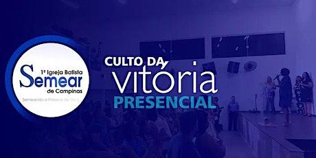 CULTO DA VITÓRIA PRESENCIAL (27/01 -  20h) | Igreja ingressos