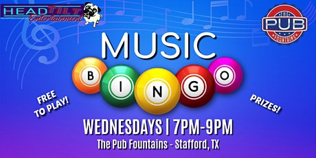 Music Bingo  Wednesdays at The Pub Fountains tickets