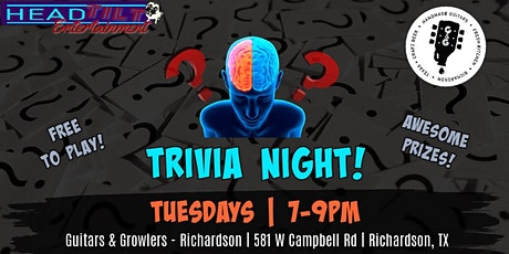 Trivia at Guitars & Growlers- Richardson, TX tickets
