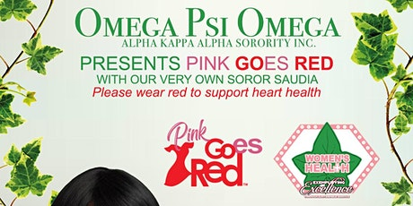 Omega Psi Omega Presents: Pink Goes Red Zoom Zumba tickets