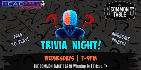 Trivia at The Common Table - Frisco, TX tickets