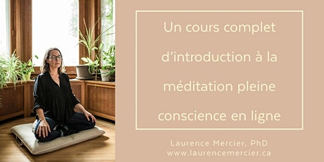 Cours d'introduction à la méditation pleine conscience en ligne (6h30) billets