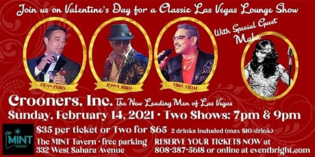 """Valentine's Day Classic Las Vegas Lounge Show """"Crooners, Inc."""" tickets"""