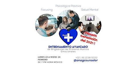 Entrenamiento Avanzado de Primeros Auxilios Emocionales PAE+ Generación 4 boletos
