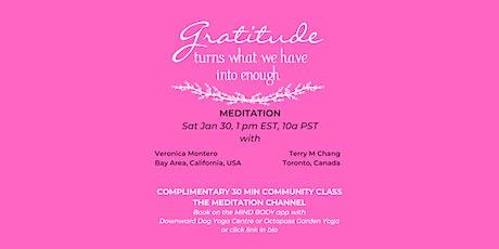 Gratitude Community Meditation - The Meditation Channel tickets