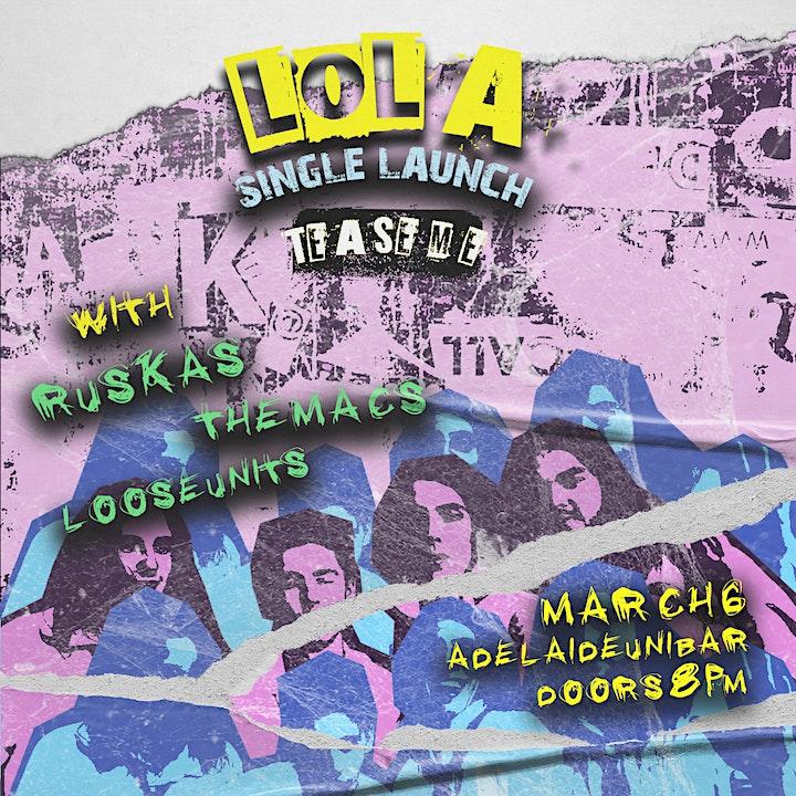 """LOLA """"Tease Me"""" Single Launch image"""
