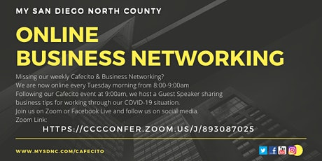 Online Business Networking - Cafecito Tuesday,  March 2nd tickets
