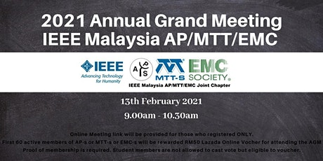 2021 AGM: IEEE AP/MTT/EMC Joint Chapter tickets