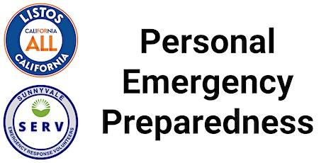Personal Emergency Preparedness Class tickets