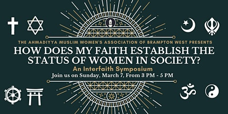 Interfaith - How Does My Faith Establish The Status of Women In Society? tickets