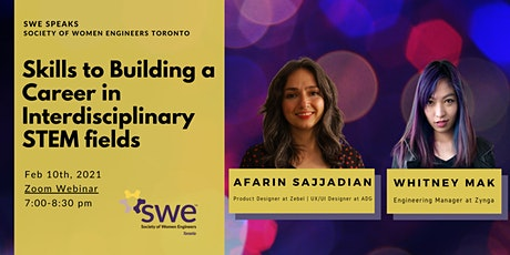 SWE Speaks: Skills to Building a Career in Interdisciplinary STEM Fields tickets