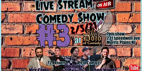 Live Stream Comedy Audience Ticket tickets