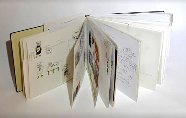 Housing a Project: a creative method inside a sketchbook image
