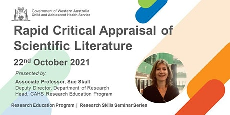 Rapid Critical Appraisal of Scientific Literature - 22 Oct tickets