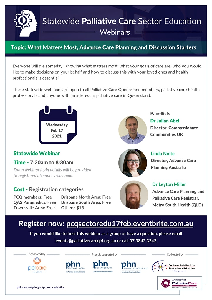 2021 Statewide Palliative Care Sector Education | Feb 17 image