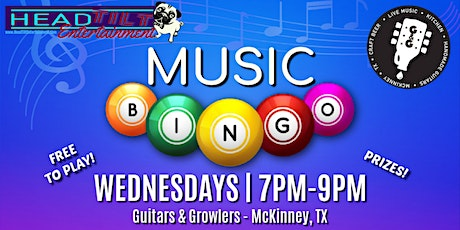 Music Bingo Saturday's at Guitars & Growlers - McKinney tickets