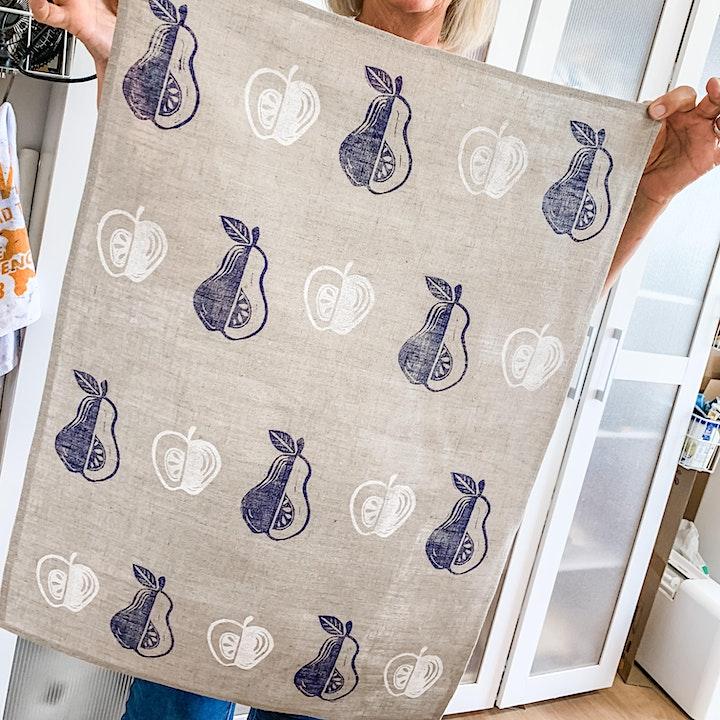 Hand Stamped Fabric Printing Workshop image