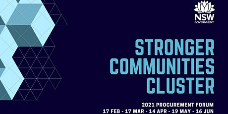 2021 Stronger Communities Cluster Procurement Forum Innovation Sessions tickets