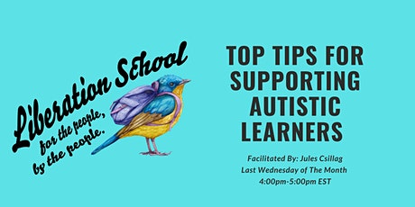 Top Tips for Supporting Autistic Learners tickets