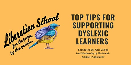 Top Tips for Supporting Dyslexic Learners tickets