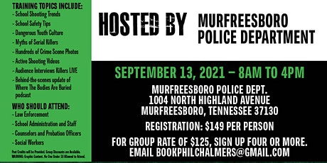 Profiling Teen Killers, School Shooters, Mass Murderers and Serial Killers tickets