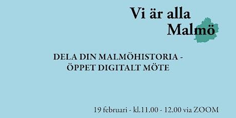 Dela din historia om Malmö biljetter
