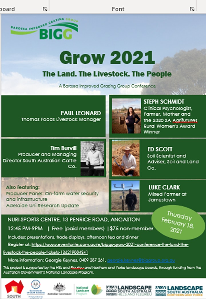 BIGG's Grow 2021 Conference: The Land, The Livestock, The People image