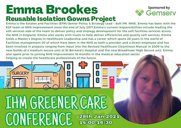 IHM Greener Care Conference image
