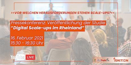 """Pressekonferenz zur Studie """"Digital Scale-ups im Rheinland"""" Tickets"""