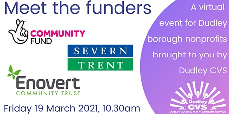 Meet the funders - three funders joining us tickets
