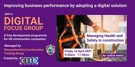 Digital Focus Group: Managing Health and Safety in construction SMEs tickets