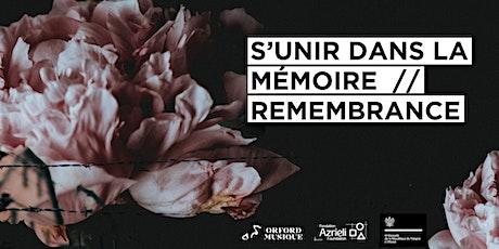 S'unir dans la mémoire  //  Remembrance tickets
