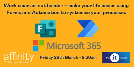 Work smarter not harder – make your life easier using Forms and Automation! tickets
