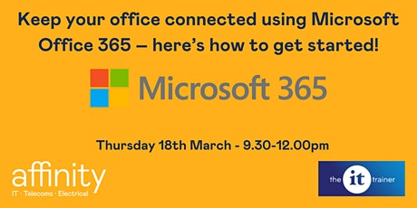 Keep your office connected using Microsoft 365 – here's how to get started! tickets