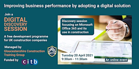 Digital Discovery Session - Exploring MS 365 in construction SMEs tickets